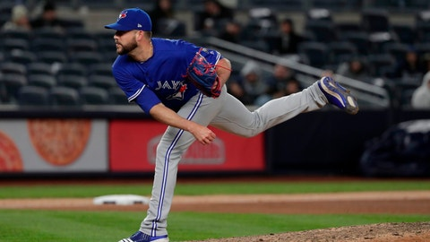 <p>               FILE - In this April 20, 2018, file photo, Toronto Blue Jays pitcher Ryan Tepera delivers against the New York Yankees during the eighth inning of a baseball game, in New York. Reliever Ryan Tepera has gone to salary arbitration with the Toronto Blue Jays. Tepera asked for $1.8 million during Wednesday's, Feb. 6, 2019, hearing and the team argued for $1,525,000. A decision by arbitrators Mark Burstein, Howard Edelman and Edna Francis is expected Thursday. (AP Photo/Julie Jacobson, File)             </p>