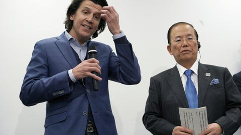 <p>               Olympic Games Executive Director Christophe Dubi, left, accompanying Toshiro Muto, CEO of the Tokyo Organizing Committee of the Olympic and Paralympic Games, file, speaks after a working level meeting between the International Olympic Committee (IOC) and the Tokyo Organising Committee of the Olympic and Paralympic Games (Tokyo 2020) in Tokyo Friday, Feb. 1, 2019. (AP Photo/Eugene Hoshiko)             </p>