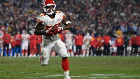 <p>               File- This Nov. 19, 2018, file photo shows Kansas City Chiefs running back Kareem Hunt in action during the second half of an NFL football game against the Los Angeles Rams in Los Angeles. The lasting image of Kareem Hunt's second NFL season wasn't him stiff-arming a linebacker, shedding a tackle or barreling over a cornerback at the goal line for a touchdown. It was him pushing a woman and then kicking her while she was defenseless on the floor. That disturbing moment caught on surveillance video mortified the sports world. The Cleveland Browns believe it was a random act by a young man who feels remorse and deserves a second chance. (AP Photo/Kelvin Kuo, File)             </p>