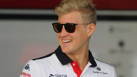 "<p>               File-This Nov. 22, 2018, file photo shows Sauber driver Marcus Ericsson of Sweden arriving at the Yas Marina racetrack in Abu Dhabi, United Arab Emirates. After their early years racing each other in karts, Sweden's Ericsson and Felix Rosenqvist took very different paths chasing checkered flags around the globe before finally landing in the U.S. Now they represent a ""Swedish Invasion"" of IndyCar as two series rookies with vast experience and big expectations heading into the 2019 season. (AP Photo/Kamran Jebreili, File)             </p>"