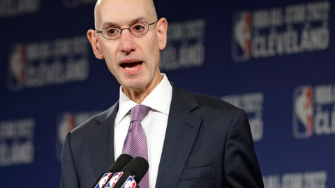 <p>               FILE - In this Nov. 1, 2018 file photo, NBA Commissioner Adam Silver announces that the Cleveland Cavaliers will host the 2022 NBA All Star game during a news conference in Cleveland. The NBA is bringing a pro league to Africa. The Basketball Africa League, a new collaboration between the NBA and the sport's global governing body FIBA, was announced Saturday, Feb. 16, 2019. (AP Photo/Tony Dejak, File)             </p>