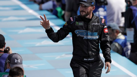 <p>               Ross Chastain waves to fans during the drivers introductions before the NASCAR Daytona 500 auto race Sunday, Feb. 17, 2019, at Daytona International Speedway in Daytona Beach, Fla. (AP Photo/Chris O'Meara)             </p>