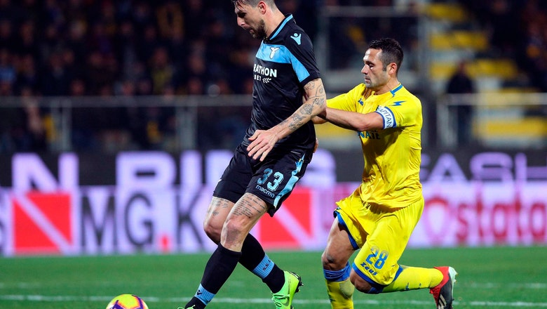 Lazio beats Frosinone to be a point behind 4th-place Milan