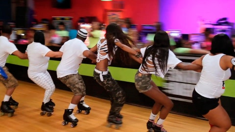 """<p>               This image released b HBO shows a scene from the documentary """"United Skates,"""" premiering Feb. 18, 2019 on HBO. (HBO via AP)             </p>"""