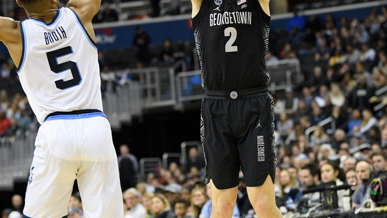 Georgetown ends 9-game skid against No. 17 Villanova, 85-73
