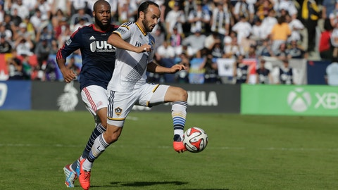 <p>               FILE - In this Dec. 7, 2014, file photo, Los Angeles Galaxy's Landon Donovan, right, controls the ball past New England Revolution's Andrew Farrell during the first half of the MLS Cup championship soccer match in Carson, Calif. Donovan doesn't look at it as coming out of retirement, since he never really considered himself retired. Donovan, the former U.S. national team and MLS star, will make his debut for the San Diego Sockers of the Major Arena Soccer League on Friday, Feb. 15, 2019, night against the Tacoma Stars. (AP Photo/Jae C. Hong,File)             </p>