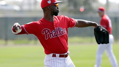 <p>               Philadelphia Phillies' Andrew McCutchen does drills at the Phillies spring training baseball facility, Tuesday, Feb. 19, 2019, in Clearwater, Fla. (AP Photo/Lynne Sladky)             </p>
