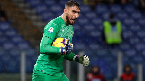 "<p>               FILE - In this Sunday, Nov. 25, 2018 file photo, AC Milan goalkeeper Gianluigi Donnarumma reacts during a Serie A soccer match between Lazio and AC Milan, at the Rome Olympic stadium. Donnarumma has been a mainstay between the posts for Milan since making his debut in 2015 and has made more than 150 appearances for the club as well as also playing for the Italy national team. It is sometimes easy to forget how young he is. He turned 20 on Monday. ""Donnarumma is incredible, I wished him happy birthday earlier,"" said Adriano Galliani, who was Milan CEO when the young goalkeeper broke through. ""To think he has played more than 150 matches for Milan at the age of 20 is extraordinary. (AP Photo/Gregorio Borgia, File)             </p>"