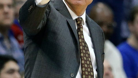 <p>               Kansas head coach Bill Self motions to his players during the first half of an NCAA college basketball game against Oklahoma State Saturday, Feb. 9, 2019, in Lawrence, Kan. (AP Photo/Charlie Riedel)             </p>