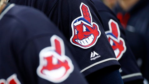 <p>               FILE - In this June 19, 2017 file photo, members of the Cleveland Indians wear uniforms featuring mascot Chief Wahoo as they stand on the field for the national anthem before a baseball game against the Baltimore Orioles in Baltimore.  The maker of Cleveland's ballpark mustard is removing the Chief Wahoo logo from its branding and packaging to maintain longstanding ties with the Cleveland Indians baseball team. The Indians have told official partners like Bertman Foods Co., the maker of Bertman Original Ballpark Mustard, those relationships can't continue unless they stop using Chief Wahoo.  (AP Photo/Patrick Semansky, File)             </p>