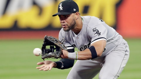 <p>               FILE - In this Sept. 19, 2018, file photo, Chicago White Sox's Yoan Moncada fields a ball hit by Cleveland Indians' Melky Cabrera during the fourth inning of a baseball game in Cleveland. Cabrera was out on the play. Moncada and pitchers such as Lucas Giolito and Michael Kopech have shown potential in the majors. (AP Photo/Tony Dejak, File)             </p>