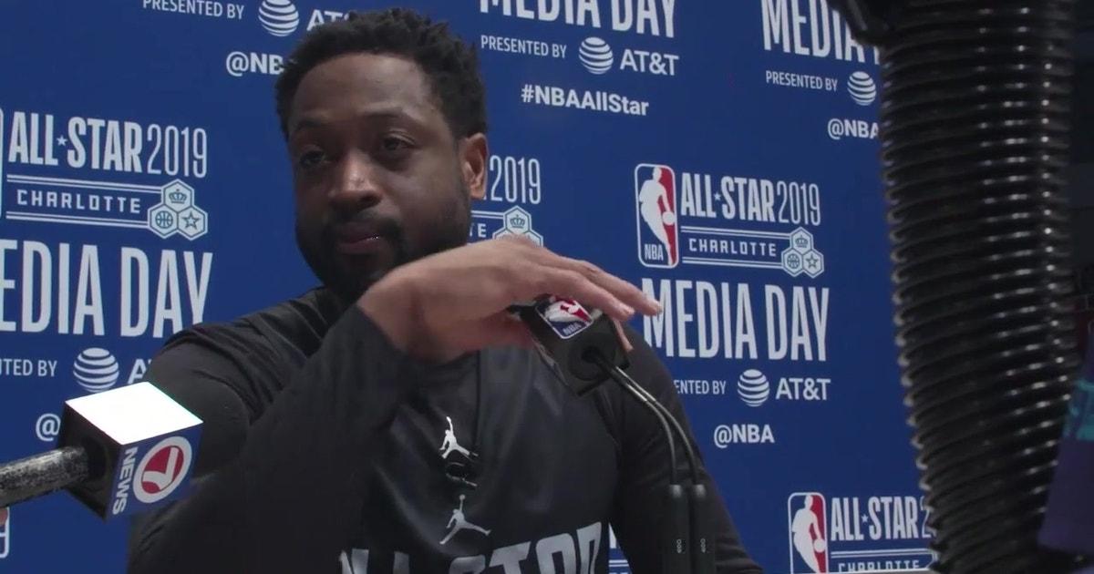 Dwyane Wade at NBA All-Star media day part 2