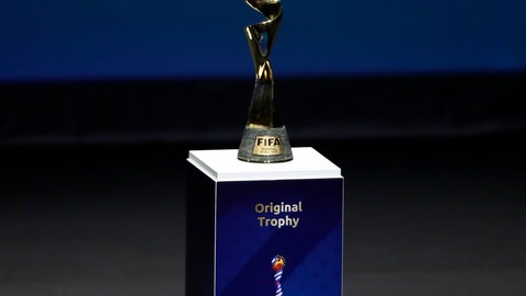 <p>               FILE - In this Dec. 8, 2018, file photo, the Women's World Cup trophy is displayed at the women's soccer 2019 World Cup draw, in Boulogne-Billancourt, outside Paris. Wednesday marks 100 days until kickoff for the game's biggest tournament, opening on June 7 in Paris. The 24-team event will be played at nine stadiums in France over the course of a month, with the final set for July 7 in Lyon. (AP Photo/Christophe Ena, File)             </p>