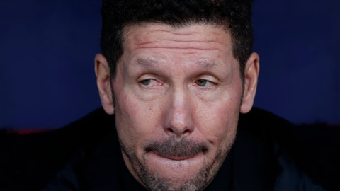 <p>               Atletico Madrid's head coach Diego Simeone waits for the start of a Spanish La Liga soccer match between Atletico Madrid and Real Madrid at the Metropolitano stadium in Madrid, Spain, Saturday, Feb. 9, 2019. (AP Photo/Manu Fernandez)             </p>