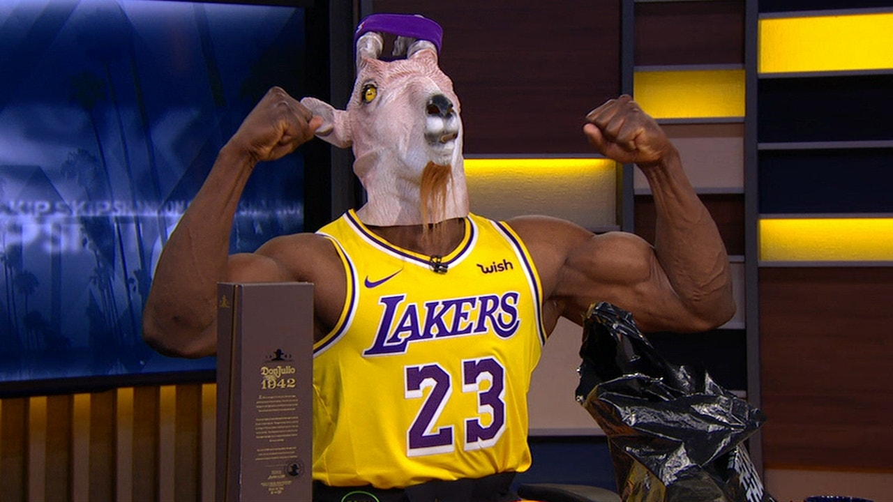 premium selection 19965 ddbcd Shannon Sharpe celebrates the Lakers' game winner with his best 'GOAT  James' impression