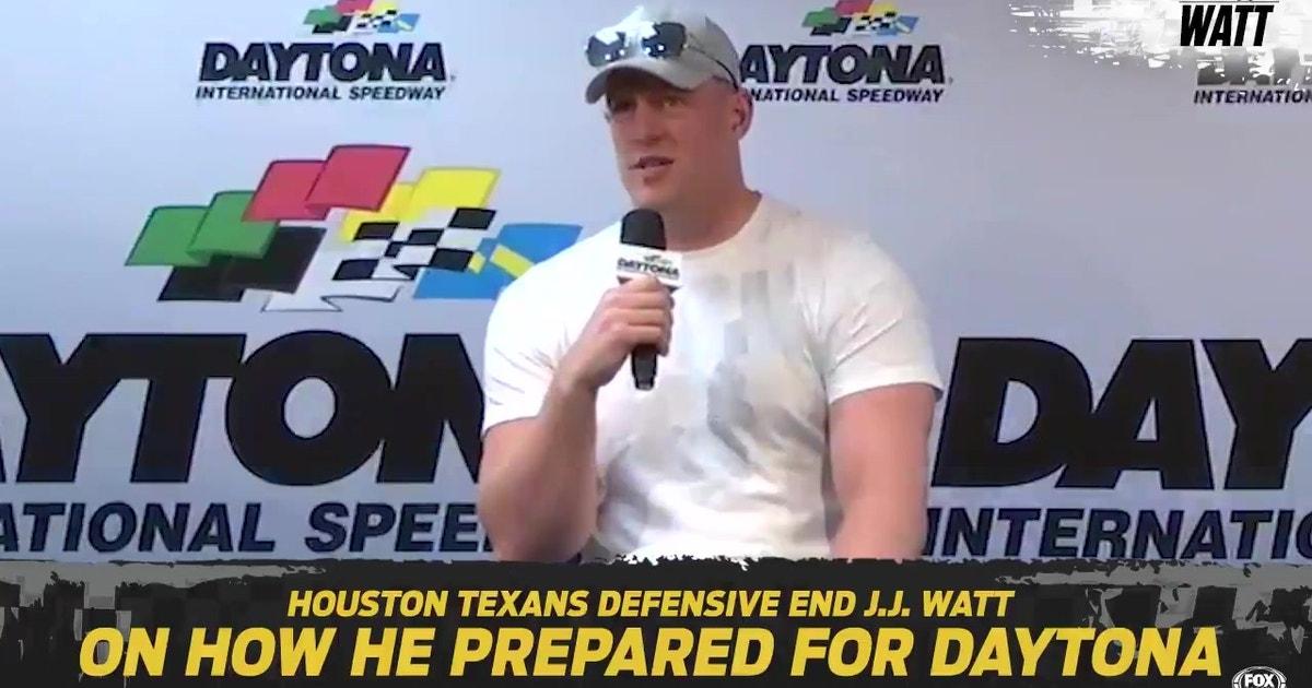 JJ Watt explains how he prepared to give the starting command for the 2019 Daytona 500