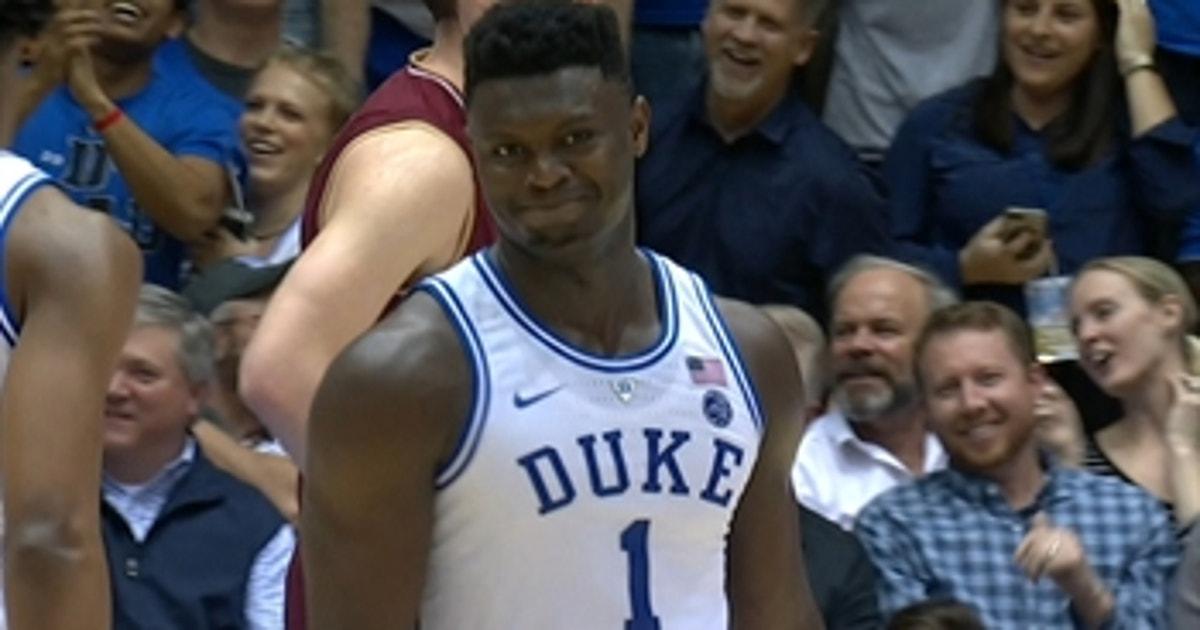 07389fd790c Zion Williamson misses reverse dunk in No. 2 Duke s win over Boston College