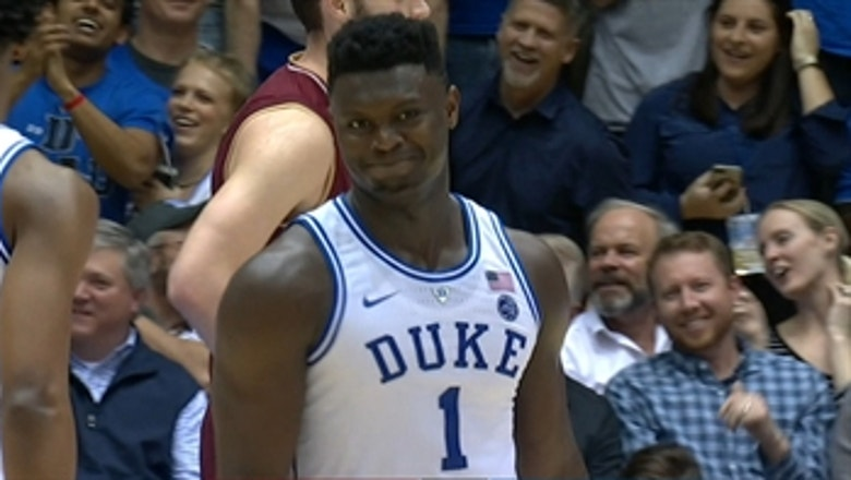 Whoops! Zion Williamson misses reverse dunk in No. 2 Duke's win over Boston College