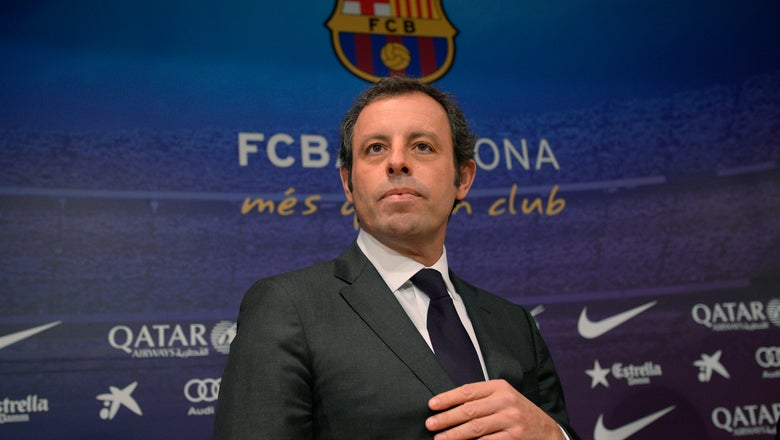 Former Barcelona president denies money laundering in court