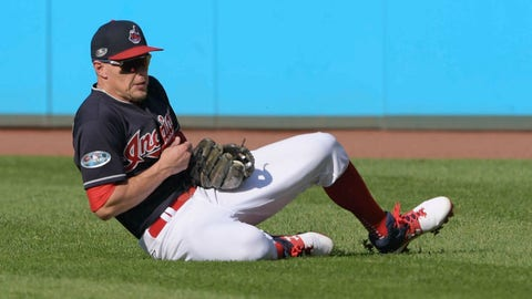 <p>               File-This Oct. 8, 2018, file photo shows Cleveland Indians' Brandon Guyer fielding a ball hit by Houston Astros' Marwin Gonzalez in the sixth inning during Game 3 of a baseball American League Division Series, in Cleveland. A person familiar with the situation says Guyer has agreed to a minor league contract with the Chicago White Sox. The person spoke Tuesday, Feb. 5, 2019, on condition of anonymity because the deal had not been completed. Guyer, who debuted with the Tampa Bay Rays in 2011, has a .250 career batting average. He hit a combined .266 for Tampa Bay and Cleveland in 2016 but has struggled the past two years, batting .206 in 103 games for the Indians last season.  (AP Photo/David Dermer, File)             </p>