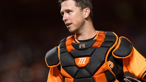 <p>               FILE - In this Aug. 24, 2018, file photo, San Francisco Giants catcher Buster Posey talks to an umpire during the sixth inning of a baseball game against the Texas Rangers, in San Francisco. Working out his lower body with a 15-pound dumbbell in his left hand he leaned forward to do a one-legged dead lift. Posey immediately felt the muscles in his right buttocks being used exactly the way they should. Posey certainly plans to be a full participant from Day 1 of spring training, pulling on the catcher's gear and squatting behind the plate for bullpens. (AP Photo/John Hefti, File)             </p>