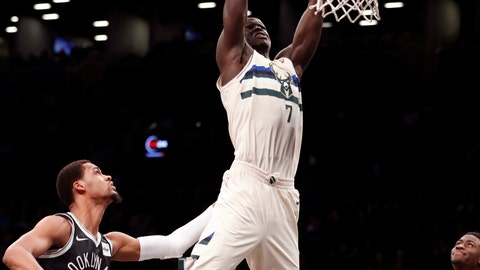 <p>               FILE - In this Feb. 4, 2018, file photo, Brooklyn Nets forward James Webb III (0) watches as Milwaukee Bucks center Thon Maker (7) dunks over him during the first half of an NBA basketball game, in New York. A person familiar with the situation says the NBA-leading Milwaukee Bucks have agreed to trade center Thon Maker to the Detroit Pistons for forward Stanley Johnson. The person spoke to The Associated Press Wednesday, Feb. 6, 2019, on condition of anonymity because the deal had not been publicly announced.(AP Photo/Kathy Willens, File)             </p>