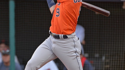<p>               FILE - In this Oct. 8, 2018, file photo, Houston Astros' Marwin Gonzalez hits a two-run double in the seventh inning during Game 3 of a baseball American League Division Series against the Cleveland Indians, in Cleveland. A person familiar with the negotiations tells The Associated Press that versatile Marwin Gonzalez and the Minnesota Twins have agreed to a $21 million, two-year contract. The person spoke on condition of anonymity Friday, Feb. 22, 2019, because the agreement is subject to a successful physical. (AP Photo/Phil Long, File)             </p>
