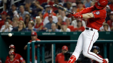 <p>               FILE - In this June 8, 2018, file photo, Washington Nationals' Bryce Harper hits a two-RBI double during the fifth inning of a baseball game against the San Francisco Giants at Nationals Park in Washington. Harper, Manny Machado, Craig Kimbrel and Dallas Keuchel will not be around when the bat and ball bags are opened at spring training throughout Florida and Arizona this week. They are among the dozens of free agents still looking for jobs. (AP Photo/Alex Brandon, File)             </p>