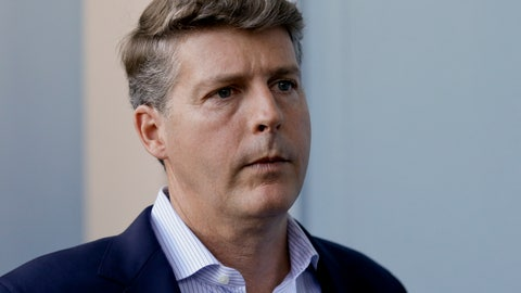 <p>               FILE - In this Wednesday, Nov. 15, 2017 file photo, Hal Steinbrenner, principal owner, managing general partner and co-chairman of the New York Yankees, talks with reporters at the annual MLB baseball general managers' meetings in Orlando, Fla. Hal Steinbrenner had heard the constant criticism in New York: Why haven't the Yankees tried to sign Bryce Harper and Manny Machado. While he won't rule out more moves before opening day, but he sounded as if a deal for a high-priced free agent is unlikely, Thursday, Deb. 7, 2019. (AP Photo/John Raoux, File)             </p>