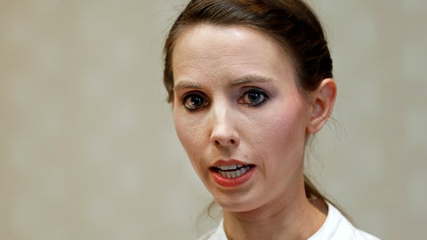 <p>               FILE - In this Nov. 22, 2017 file photo, former gymnast Rachael Denhollander speaks about former sports doctor Larry Nassar in Lansing, Mich. Denhollander, the first woman to publicly accuse now-imprisoned sports doctor Larry Nassar of sexual abuse is expected to question USA Gymnastics' chief financial officer during a creditors' meeting two months after the embattled sport organization filed a Chapter 11 bankruptcy petition. (AP Photo/Paul Sancya, File)             </p>