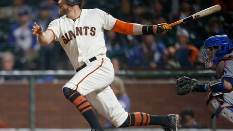 <p>               FILE - In this Tuesday, Sept. 12, 2017 file photo, San Francisco Giants' Hunter Pence hits a single to drive in a run against the Los Angeles Dodgers during the sixth inning of a baseball game in San Francisco. Hunter Pence has agreed to a minor league contract with his hometown Texas Rangers and will attend major league spring training. General major Jon Daniels said Thursday, Feb. 7, 2019 that the 35-year-old outfielder, who played winter ball, has a long track record of being a great teammate and is a winning player.(AP Photo/Tony Avelar, File)             </p>