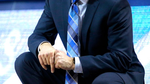 <p>               Buffalo head coach Nate Oats reacts against Ohio during the second half of an NCAA college Basketball game, Tuesday, Feb. 19, 2019, in Buffalo N.Y. (AP Photo/Jeffrey T. Barnes)             </p>