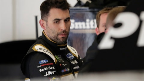 <p>               Aric Almirola looks over his car in his garage after NASCAR auto race practice at Daytona International Speedway, Saturday, Feb. 9, 2019, in Daytona Beach, Fla. (AP Photo/John Raoux)             </p>