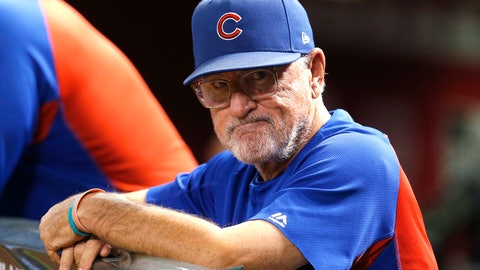 <p>               FILE - In this Sept. 18, 2018, file photo, Chicago Cubs manager Joe Maddon stands at the rail during the first inning of the team's baseball game against the Arizona Diamondbacks in Phoenix. Maddon did not receive a contract extension, sending him into the final year of his current deal with an uncertain future. (AP Photo/Rick Scuteri, File)             </p>
