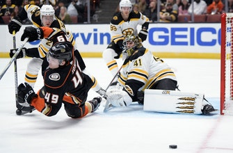 Bruins blank Ducks 3-0 in Anaheim