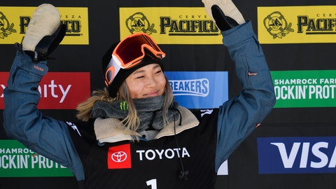 <p>               Gold medalist Chloe Kim, of the United States, celebrates after winning the women's snowboard halfpipe final at the freestyle ski and snowboard world championships, Friday, Feb. 8, 2019, in Park City, Utah. (AP Photo/Alex Goodlett)             </p>