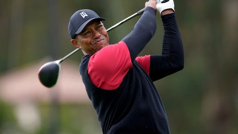 <p>               Tiger Woods tees off on the 17th hole during the final round of the Genesis Open golf tournament at Riviera Country Club on Sunday, Feb. 17, 2019, in the Pacific Palisades area of Los Angeles. (AP Photo/Ryan Kang)             </p>