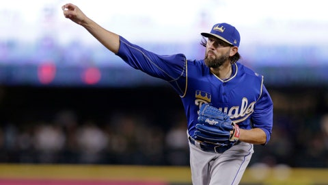 <p>               FILE - In this June 30, 2018, file photo, Kansas City Royals starting pitcher Jason Hammel works against the Seattle Mariners during the first inning of a baseball game in Seattle. Free agent right-hander Hammel has agreed to a minor league deal with the Texas Rangers and will report to major league spring training. (AP Photo/John Froschauer, File)             </p>