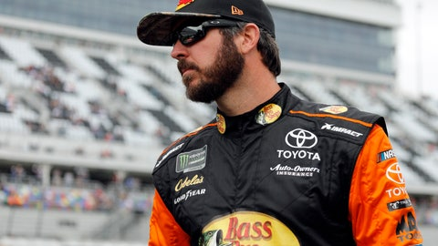 <p>               Martin Truex Jr. looks at cars on the track before his turn during qualifying for the Daytona 500 auto race at Daytona International Speedway, Sunday, Feb. 10, 2019, in Daytona Beach, Fla. (AP Photo/Terry Renna)             </p>
