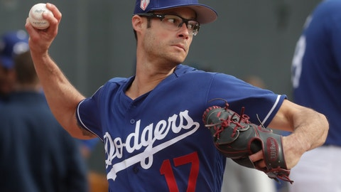 <p>               Los Angeles Dodgers' Joe Kelly throws during a spring training baseball workout Wednesday, Feb. 13, 2019, in Glendale, Ariz. (AP Photo/Morry Gash)             </p>