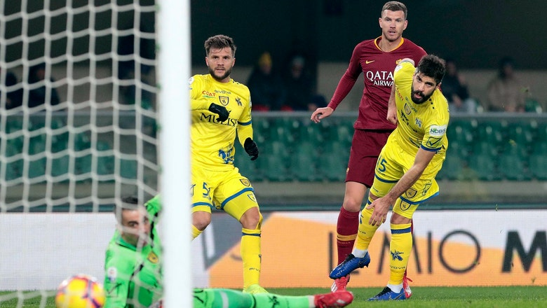 Dzeko helps Roma win 3-0 at Chievo to go 4th in Serie A