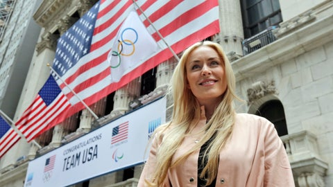 """<p>               FILE - In this Tuesday, March 20, 2018 file photo, Lindsey Vonn poses for a photo outside the New York Stock Exchange as she arrives for a visit. Lindsey Vonn is planning to """"take on the world"""" after retiring from skiing after the world championships in Sweden. That is set to include becoming a businesswoman, getting into the movie industry _ both behind and in front of the camera _ and becoming a mother. She says one of the reasons she is calling an end to her sports career now is so she doesn't damage her body even more, to the extent that she wouldn't be able to go skiing with her own children.2019. (AP Photo/Richard Drew, File)             </p>"""