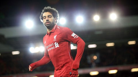 <p>               Liverpool forward Mohamed Salah runs during the English Premier League soccer match between Liverpool and Leicester City, at Anfield Stadium, Liverpool, England, Wednesday, Jan.29, 2019. (AP Photo/Jon Super)             </p>