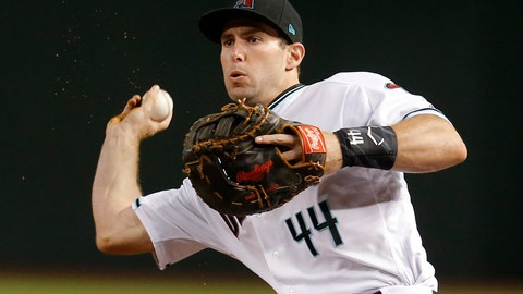 <p>               FILE - In this Friday, Sept. 21, 2018 file photo, Arizona Diamondbacks first baseman Paul Goldschmidt (44) throws during a baseball game against the Arizona Diamondback in Phoenix. John Mozeliak has built enough championship clubs in St. Louis that he immediately recognized after the Cardinals failed to make the playoffs last season that changes needed to be made. So with an aggressive approach to the offseason, Mozeliak traded for six-time All-Star first baseman Paul Goldschmidt to provide some pop to his lineup, then he signed two-time All-Star reliever Andrew Miller to a $25 million, two-year contract to close out games at the back of the bullpen. (AP Photo/Rick Scuteri, File)             </p>