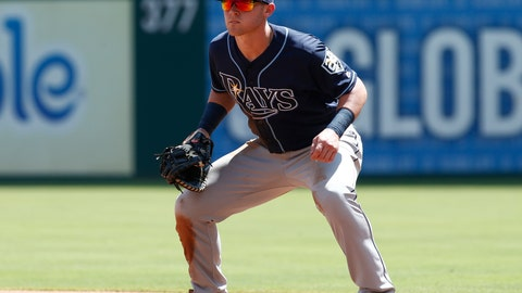 <p>               FILE - In this Sept. 19, 2018, file photo, Tampa Bay Rays first baseman Jake Bauers plays during the second inning of the team's baseball game against the Texas Rangers in Arlington, Texas. Bauers came to the Cleveland Indians in an off-season trade and the Indians are hoping the 23-year-old can help them fill the run-producing void left after the team traded Edwin Encarnacion and Yonder Alonso and decided not to re-sign All-Star outfielder Michael Brantley. (AP Photo/Mike Stone, File)             </p>