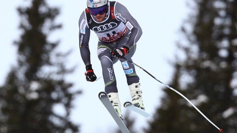 <p>               Norway's Aksel Lund Svindal takes a jump during the men's super-G at the alpine ski World Championships in Are, Sweden, Wednesday, Feb. 6, 2019. (AP Photo/Alessandro Trovati)             </p>