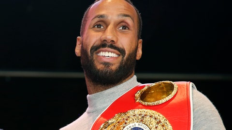 <p>               FILE- In this file photo dated Wednesday, Nov. 16, 2016, IBF Super Middleweight World Champion James Degale of Great Britain, during a photo opportunity in New York. Two-time world boxing champion James DeGale announced his retirement on Thursday, Feb. 28, 2019, 10-years after his professional debut. (AP Photo/Kathy Willens, FILE)             </p>