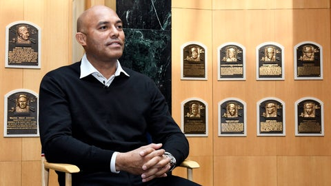 """<p>               FILE - In this Feb. 1, 2019 file photo, Baseball Hall of Fame inductee Mariano Rivera gives a news conference after his orientation tour of the National Baseball Hall of Fame and Museum, in Cooperstown, N.Y.  Just weeks after becoming baseball's first unanimous Hall of Fame selection, Rivera is defending himself from accusations in his native Panama that he has failed to provide support for two sons he had outside his marriage. Rivera called the demands filed against him """"unfounded.""""  (AP Photo/Hans Pennink, File)             </p>"""