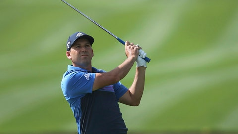 <p>               FILE - In this Saturday, Jan. 26, 2019 file photo, Sergio Garcia of Spain plays a shot on the 14th hole during round three of the Dubai Desert Classic golf tournament in Dubai, United Arab Emirates. Golf barely got out of January when it was hit with what must feel like a two-shot penalty. Odds are the negative attention on the new set of modern rules will have subsided before those four glorious days in April during the Masters unless, of course, the next man in a green jacket makes his final putt with the flagstick in the cup.  (AP Photo/Kamran Jebreili, File)             </p>