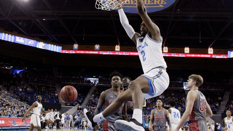 <p>               UCLA forward Cody Riley (2) dunks against Utah during the first half of an NCAA college basketball game Saturday, Feb. 9, 2019, in Los Angeles. (AP Photo/Marcio Jose Sanchez)             </p>